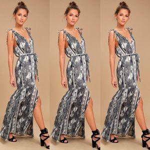 Lulu's Dresses - Lulu's Mystical Grey Maxi